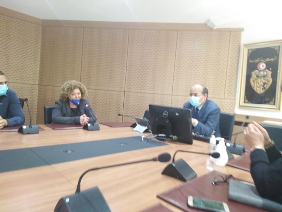جلسة عمل تشاورية مع رئيسة اتحاد قضاة دائرة المحاسبات وعضو المكتب التنفيذي