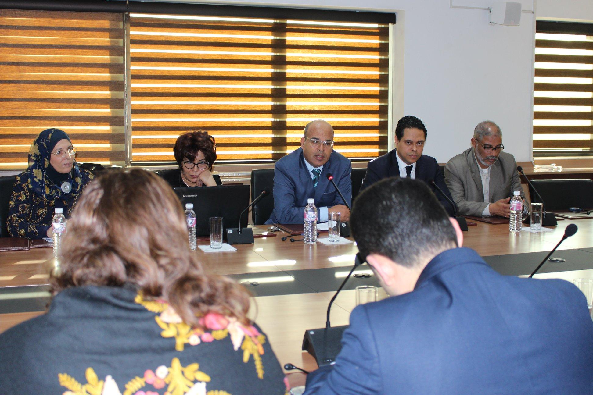 استقبال وفد أرميني ووممثلين عن المركز الدولي للعدالة الإنتقالية