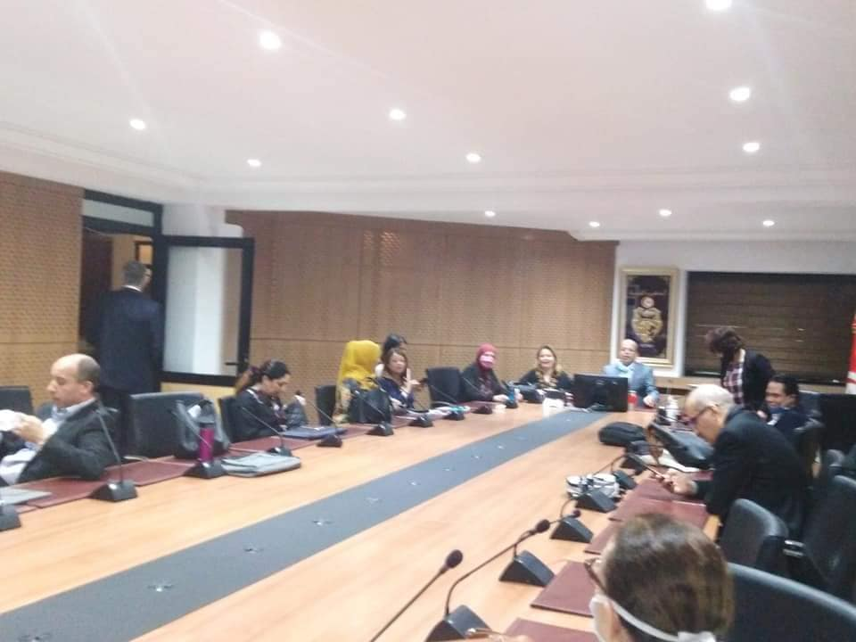 جلسة تشاورية مع أعضاء من المكتب التنفيذي لاتحادالقضاة الاداريين
