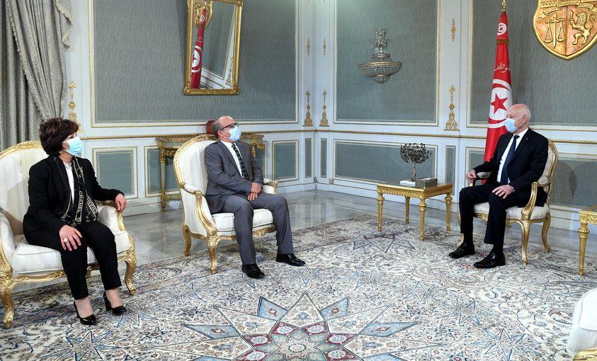 رئيس الجمهورية يستقبل رئيس المجلس الأعلى للقضاء ورئيسة مجلس القضاء العدلي