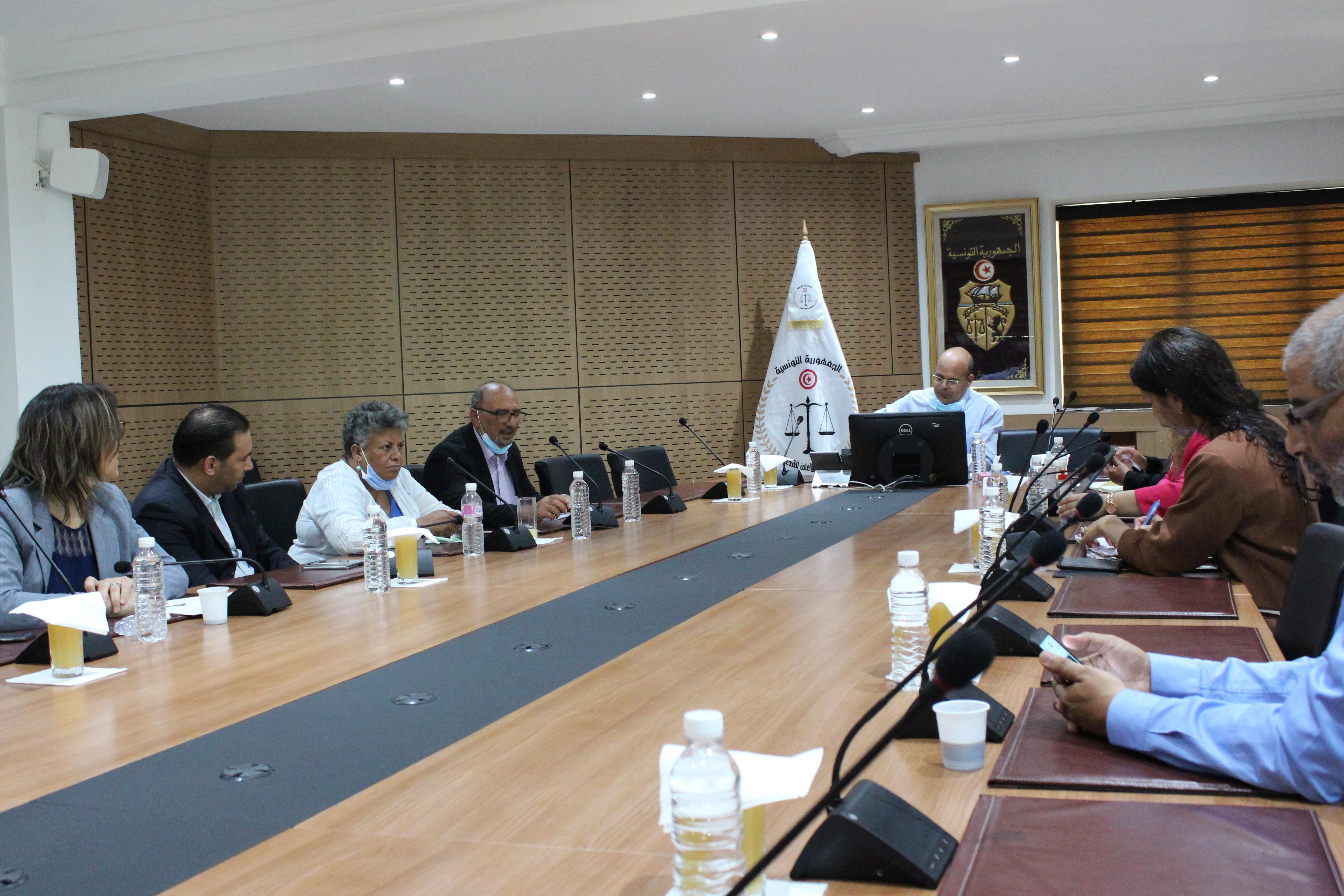جلسة عمل مع الرابطة التونسية للدفاع عن حقوق الإنسان